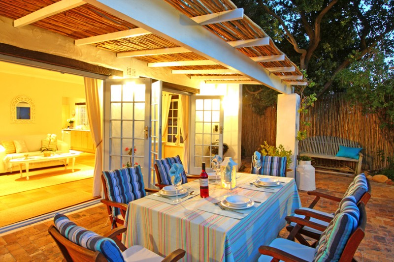 Hout Bay Beach Cottage _18_ medium size_patio dusk