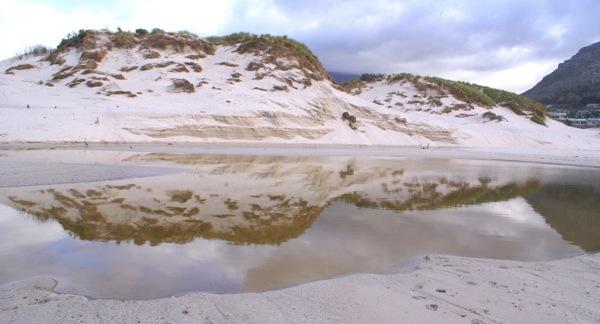 Dunes reflected