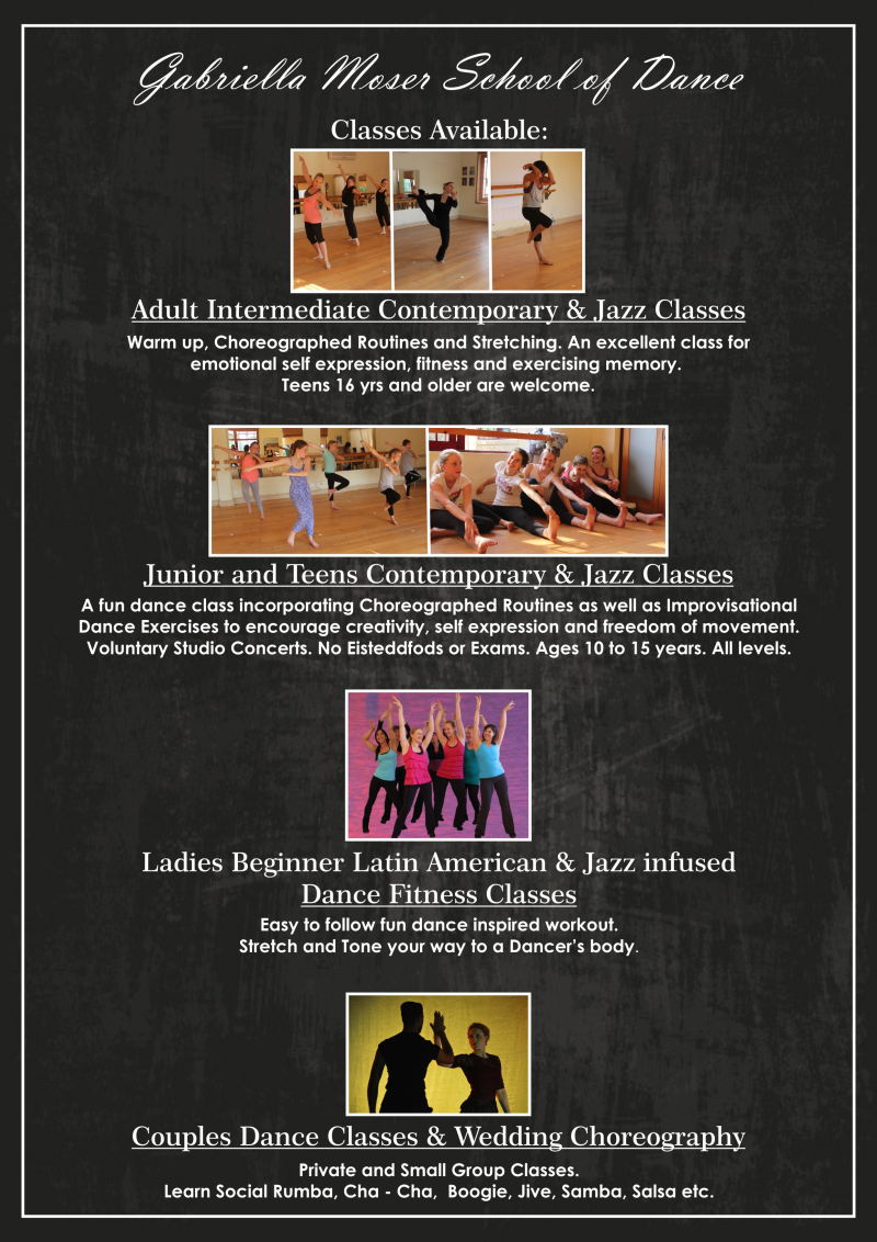 G.Moser Dance Classes Available 2017